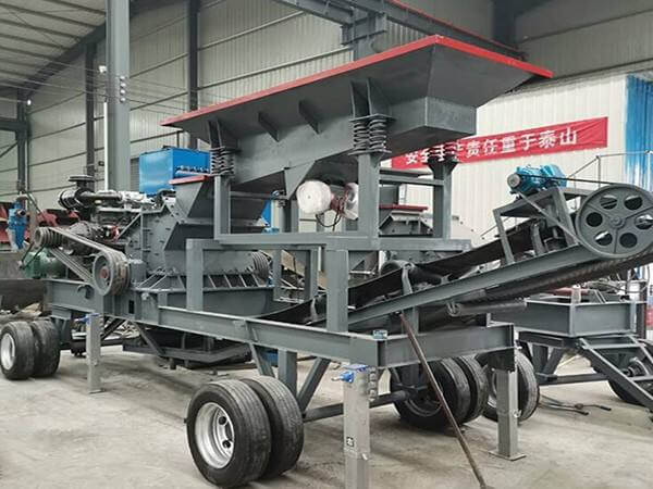Fier mobile rock crusher machine