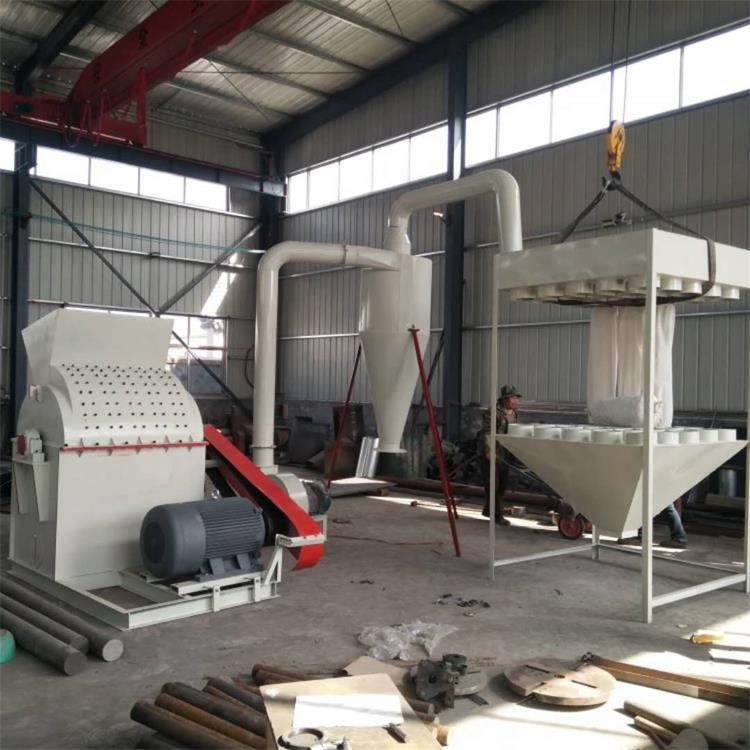 wood log sawdust making machine