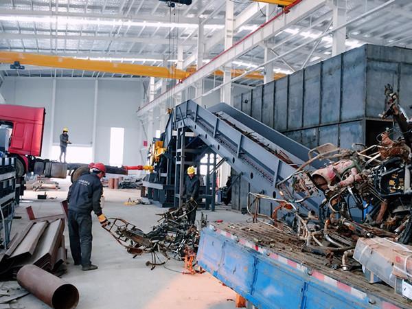 Metal crushing production line