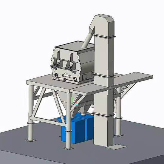 chain bucket elevator for dry mortar plant