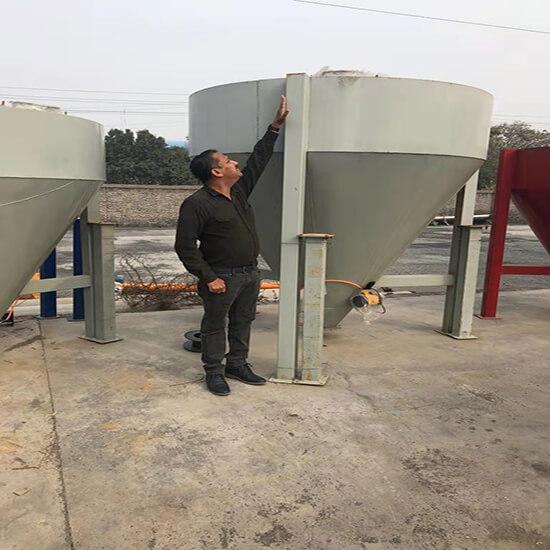 low profile cement silo
