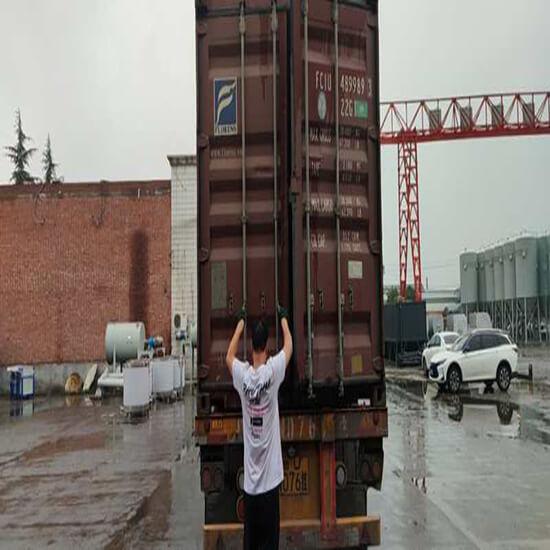 dry mortar machine shipping