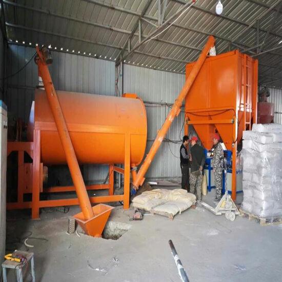 dry mortar mixer plant