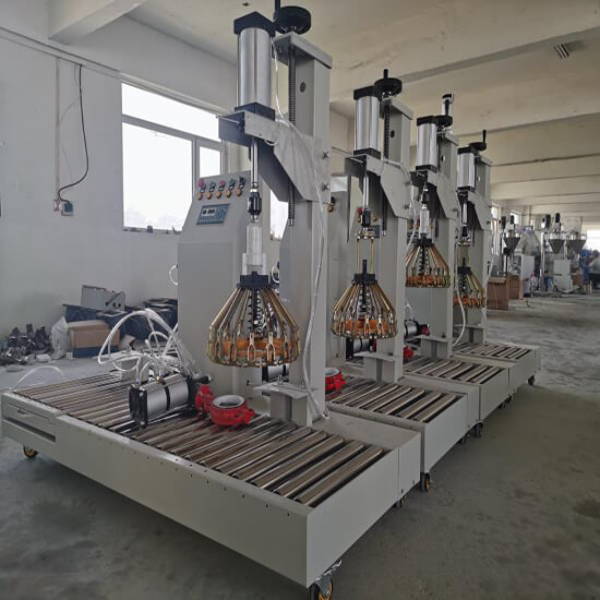 paint bucket filling machine